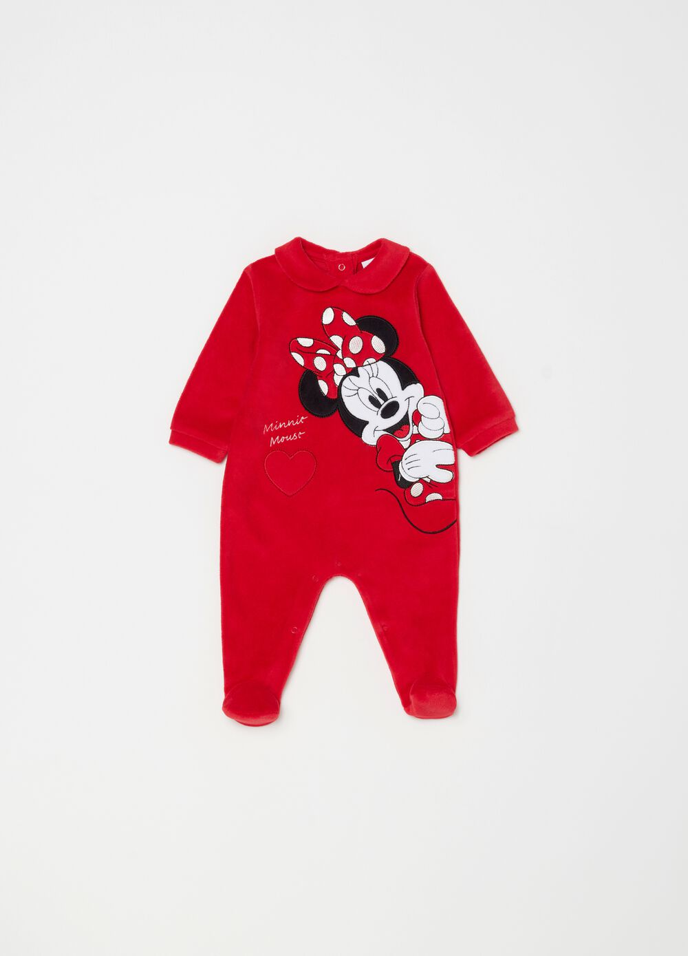 Onesie with feet and Disney Minnie Mouse embroidery