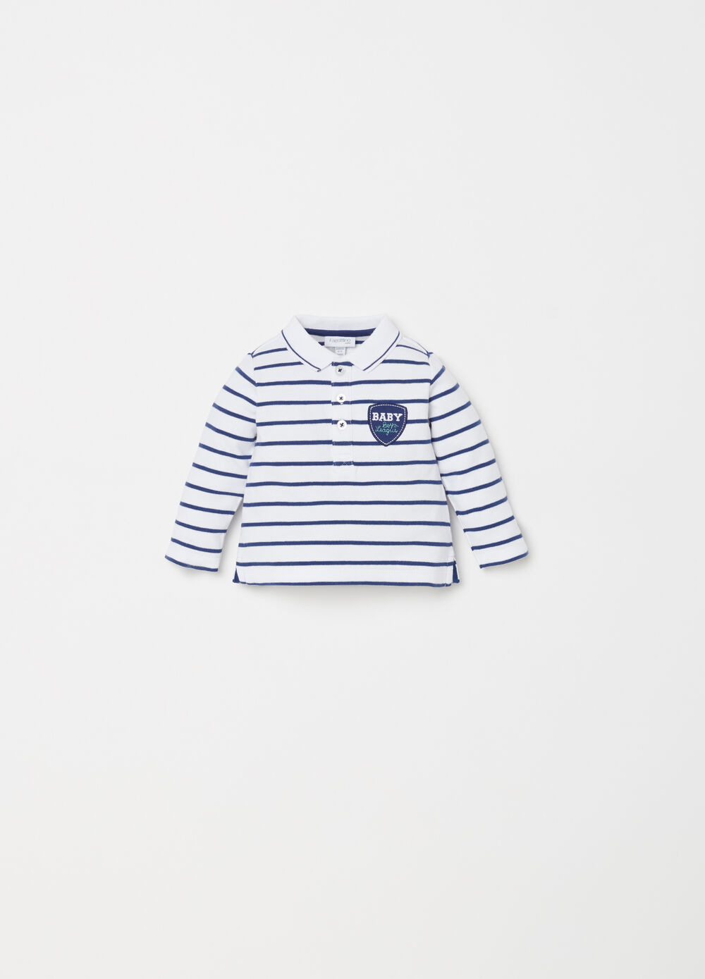BCI polo shirt with striped application