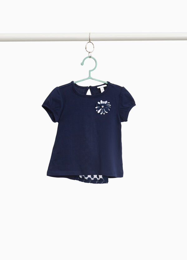 100% cotton T-shirt with puff sleeves
