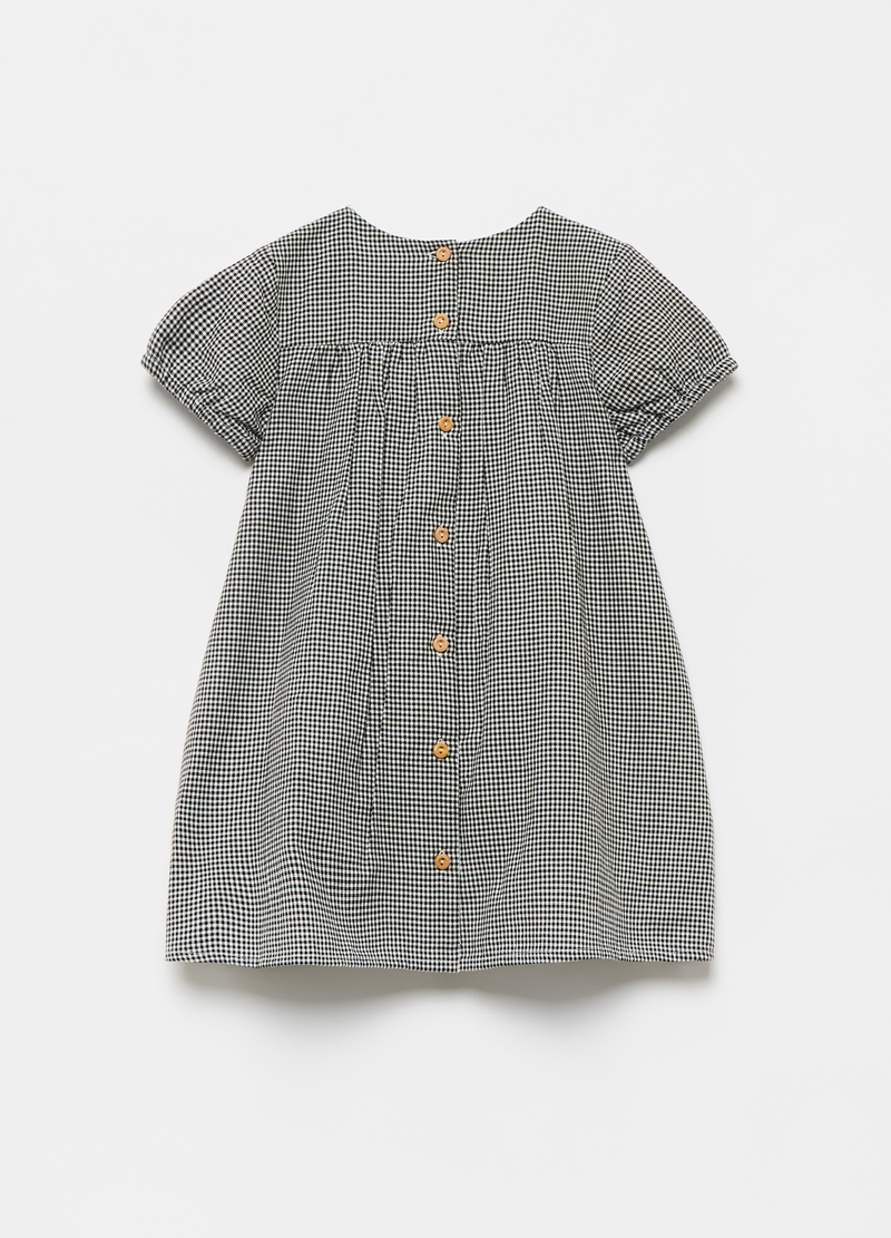Dress in 100% cotton Vichy image number null