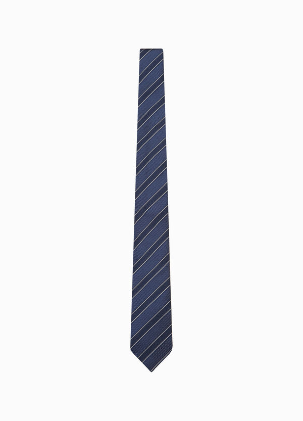 Polka dot and striped silk tie | OVS