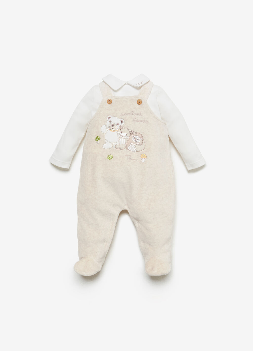 THUN Teddy dungarees outfit