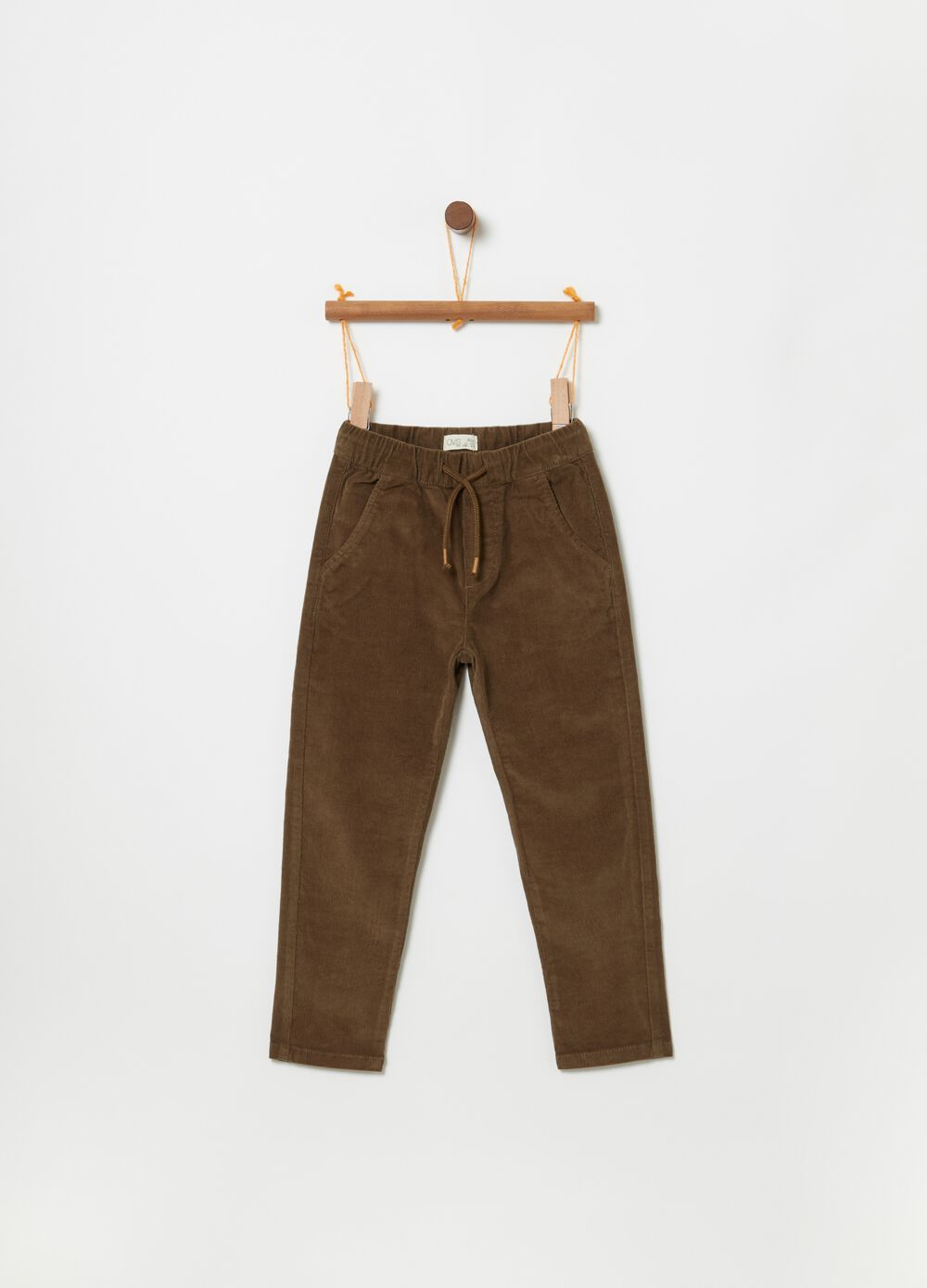 Stretch joggers with pockets and drawstring