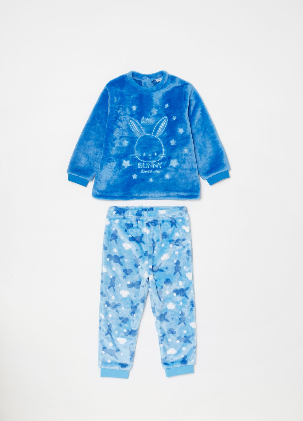 Chenille pyjamas with embroidery and pattern