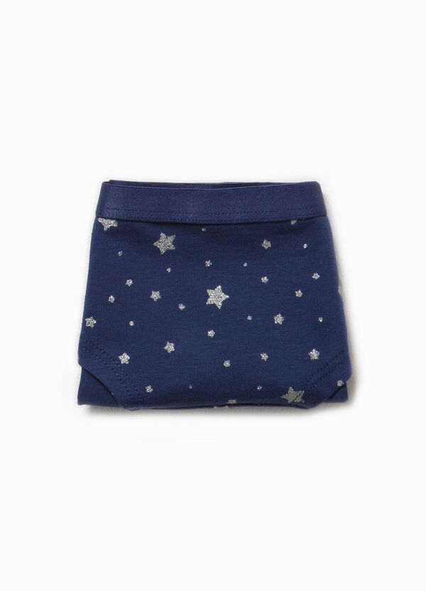 Organic cotton French knickers with stars | OVS