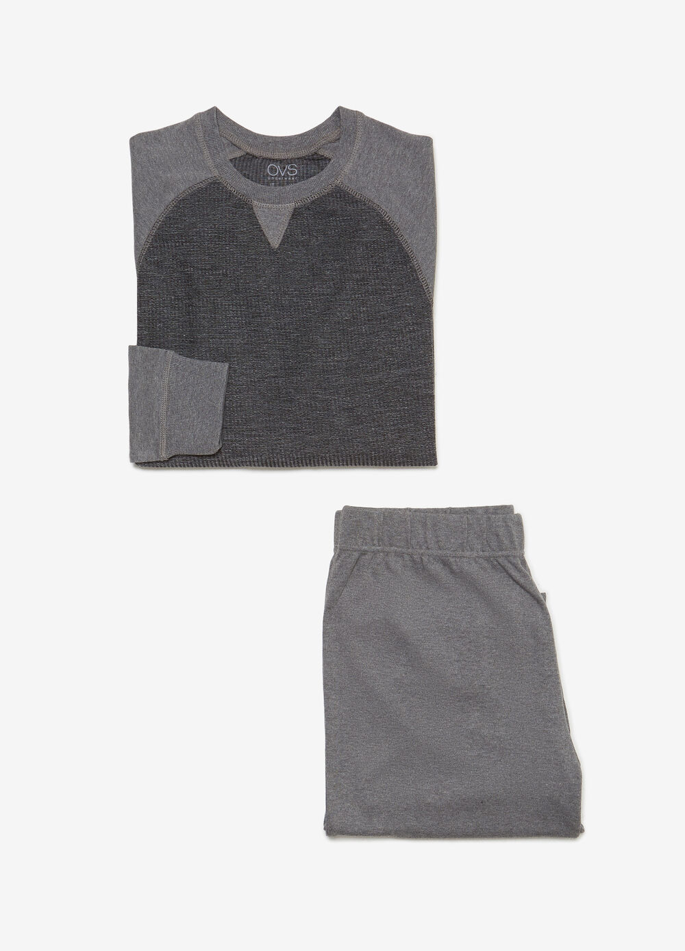 Solid colour heavy pyjamas with textured fabric