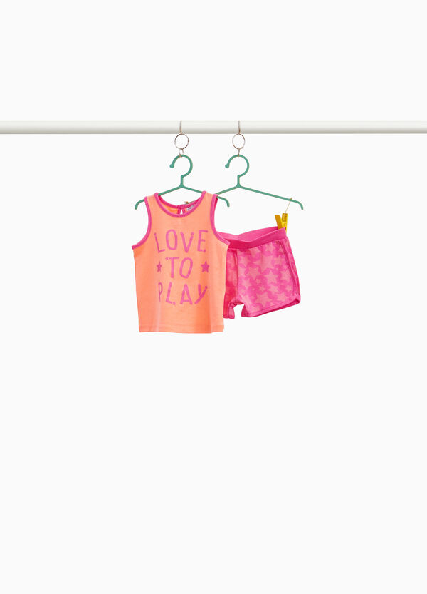 Stretch outfit with star lettering