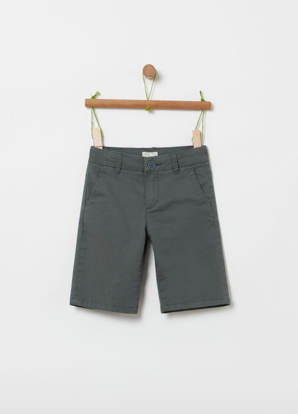 Chino Bermuda shorts in stretch organic cotton