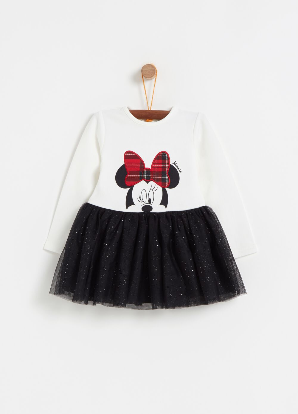 Disney Minnie Mouse dress with glitter tulle