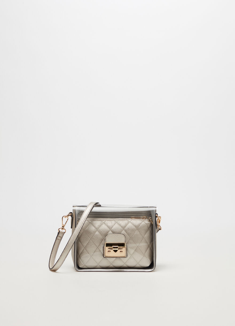 Metallic boxy bag