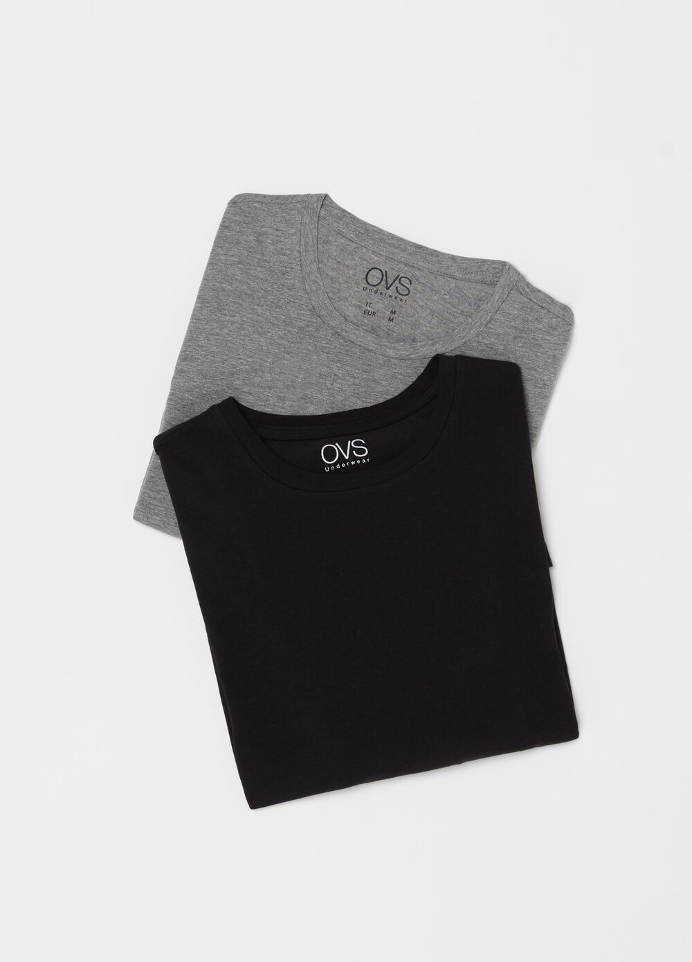 Two-pack undershirts with ribbing