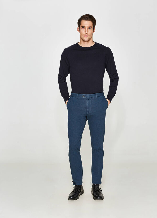 Micro-pattern Rumford trousers