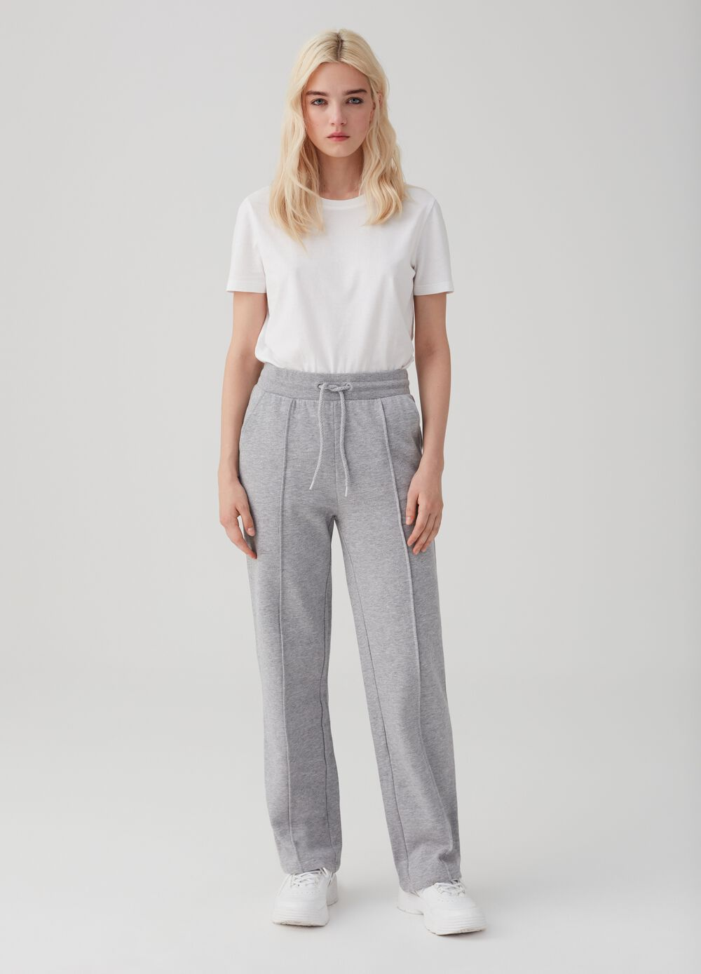 Organic cotton trousers with drawstring