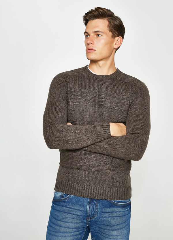 Pullover with knitted motif | OVS
