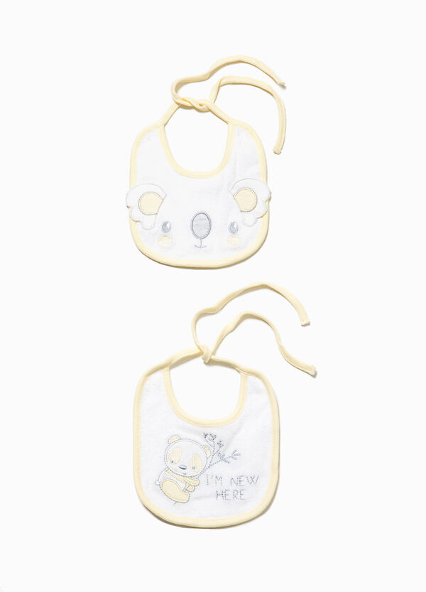 Two-pack animal patch bibs | OVS