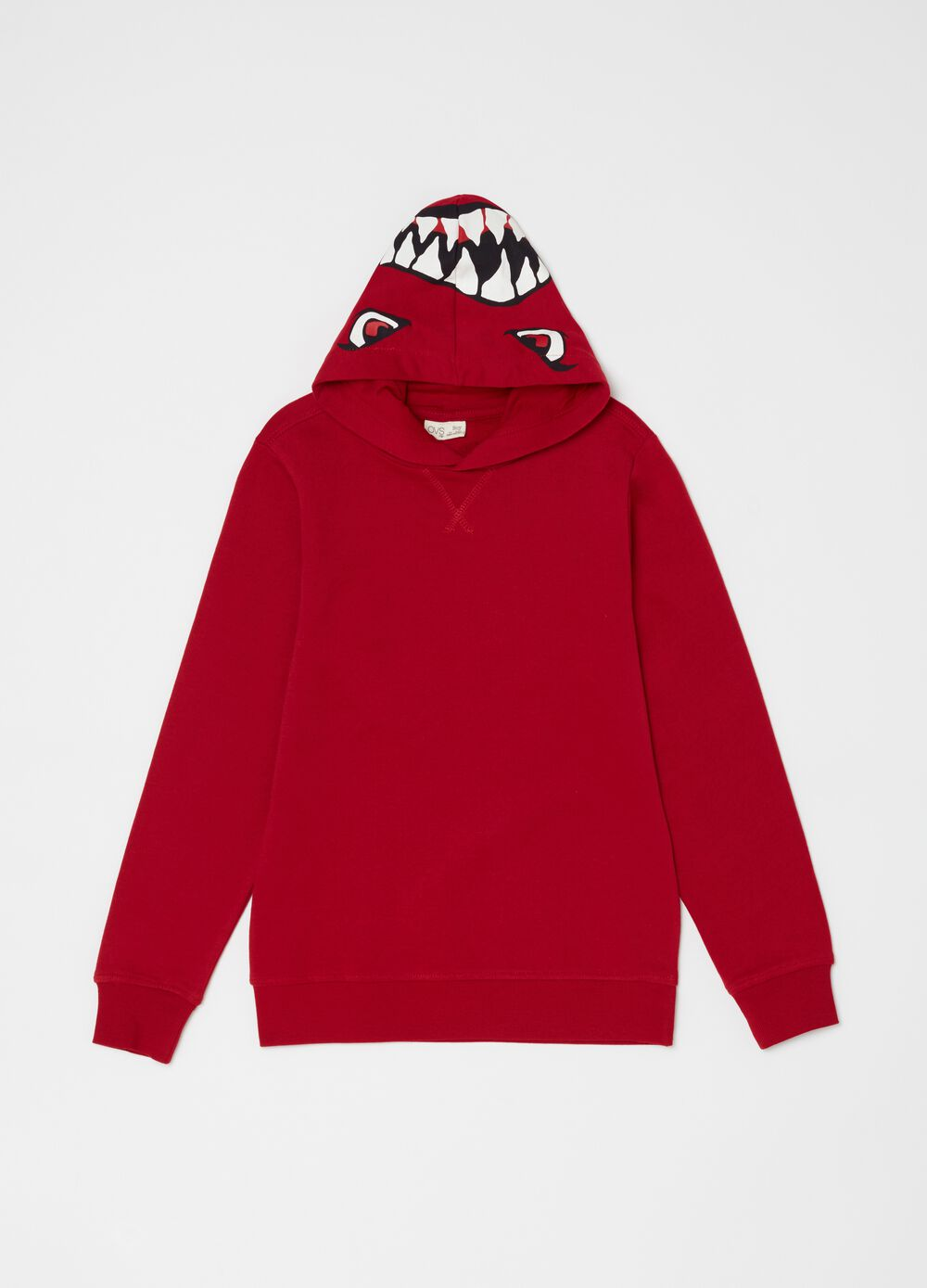 Organic cotton sweatshirt with shark print