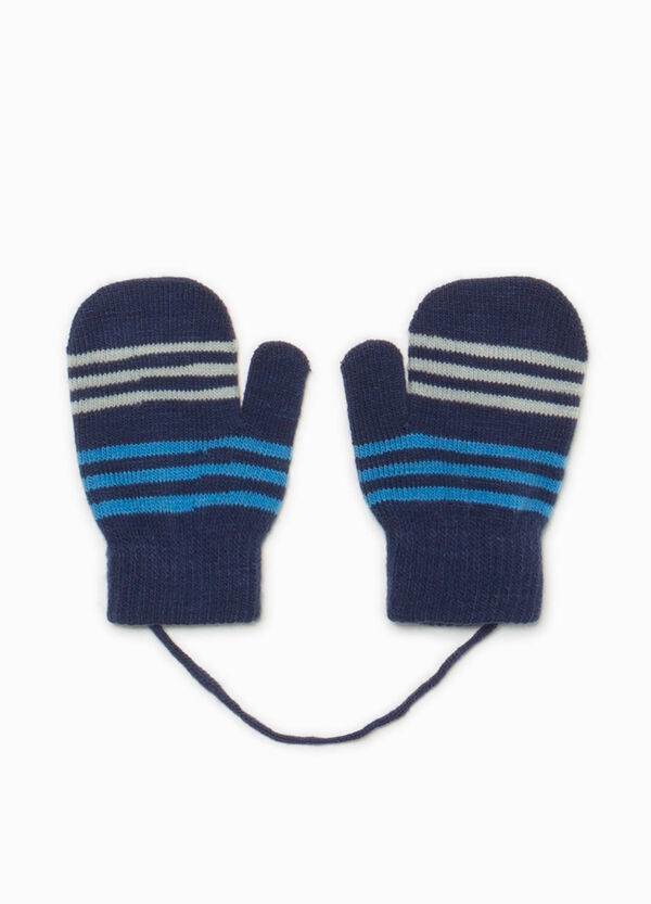 Striped knitted mittens | OVS