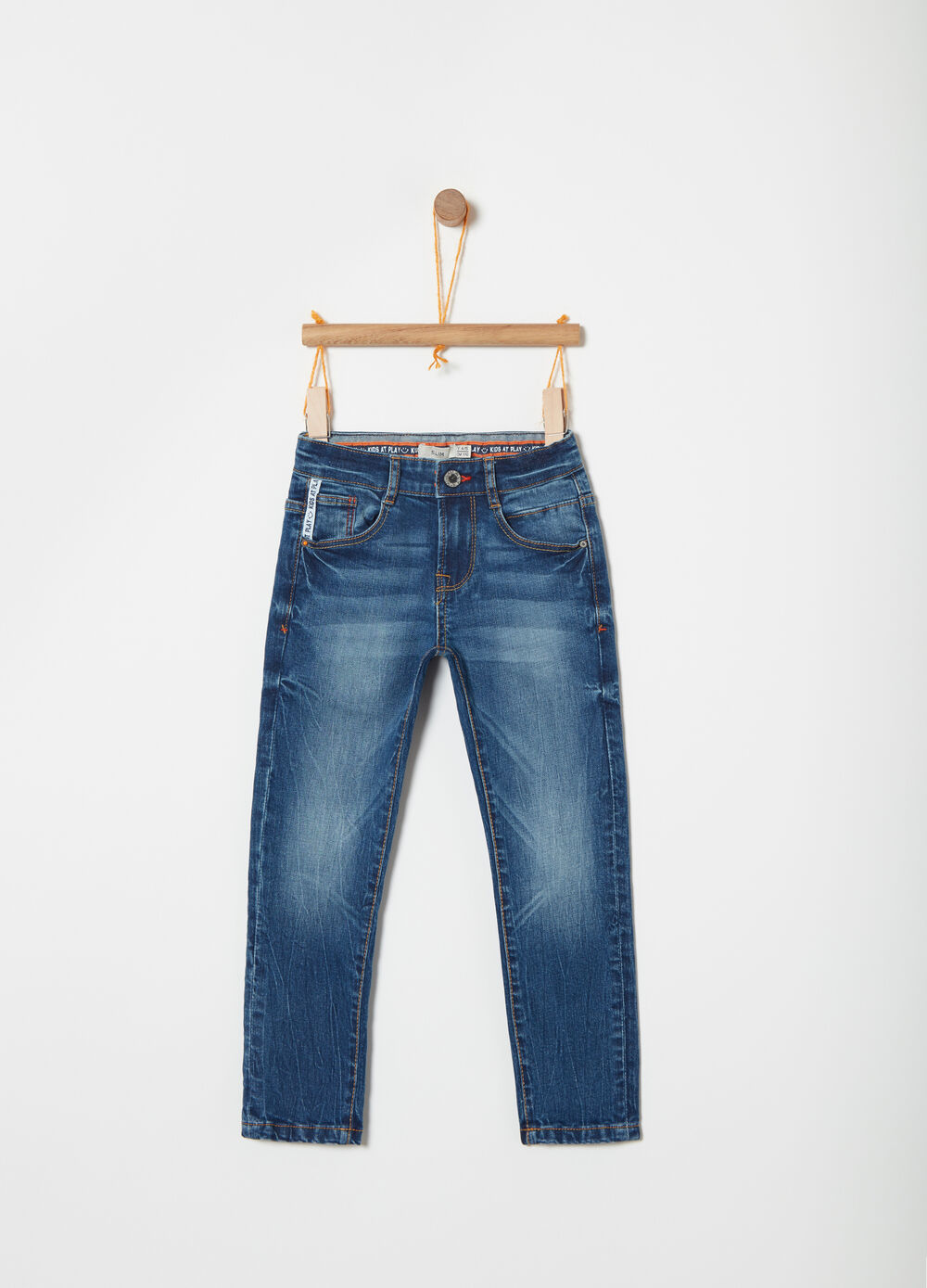 5-pocket slim-fit stretch jeans