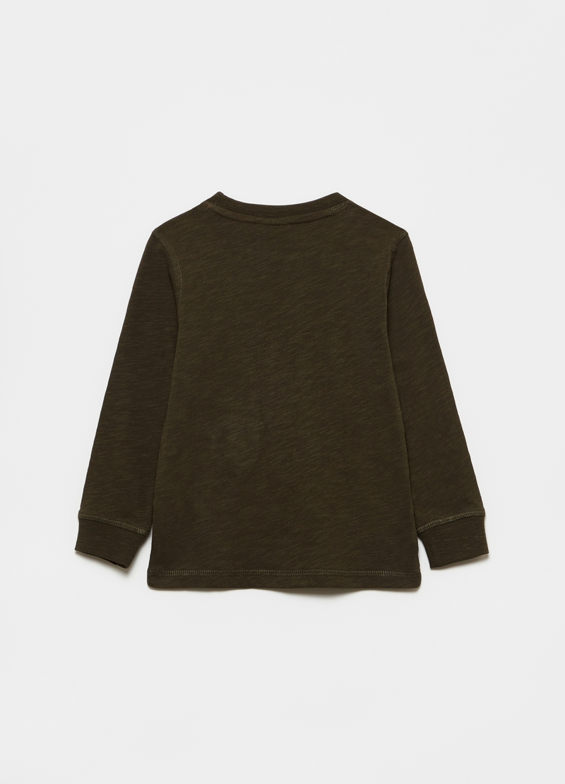 Long-sleeved T-shirt with asymmetric hem image number null