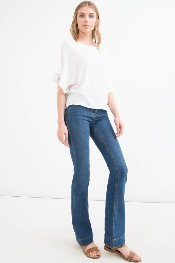 Stretch T-shirt with bat sleeves   OVS