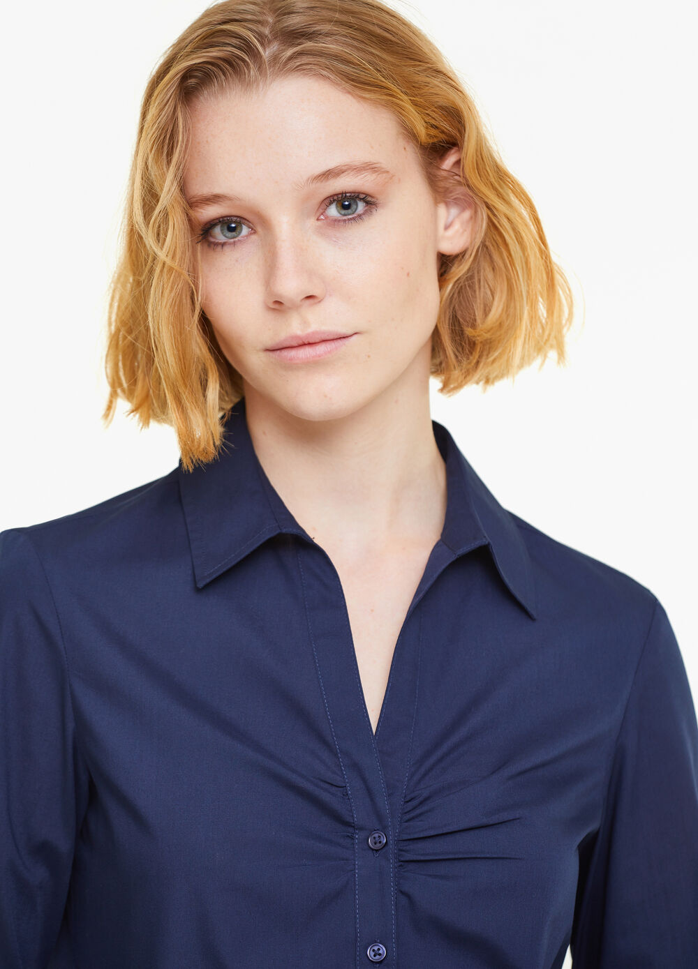 Solid colour poplin shirt