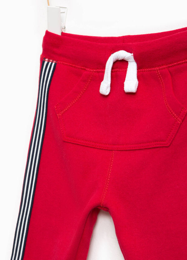 Cotton joggers with bands