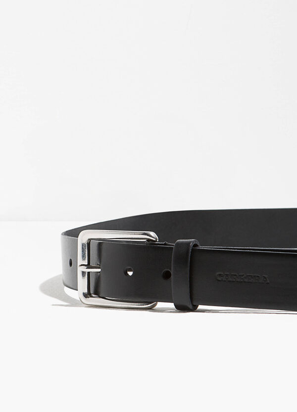 Smooth real leather belt | OVS