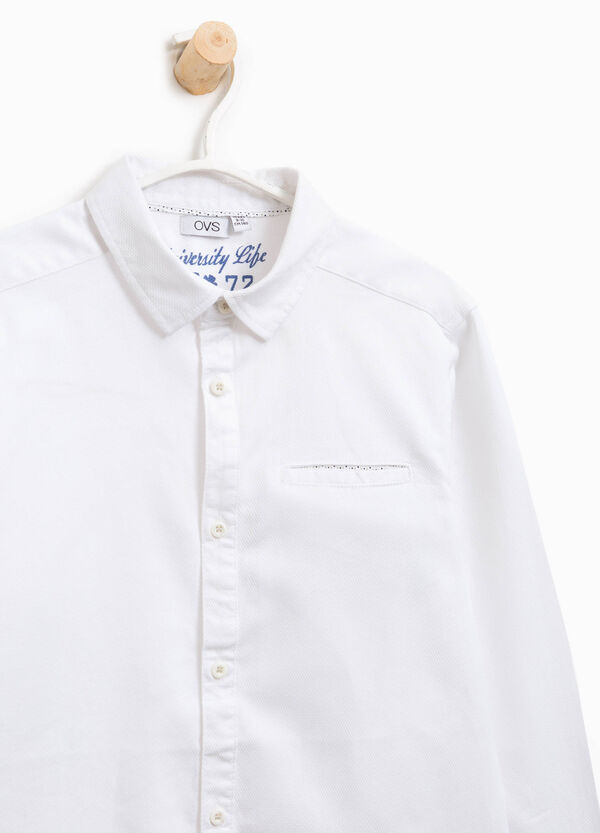 Cotton shirt with small pocket | OVS
