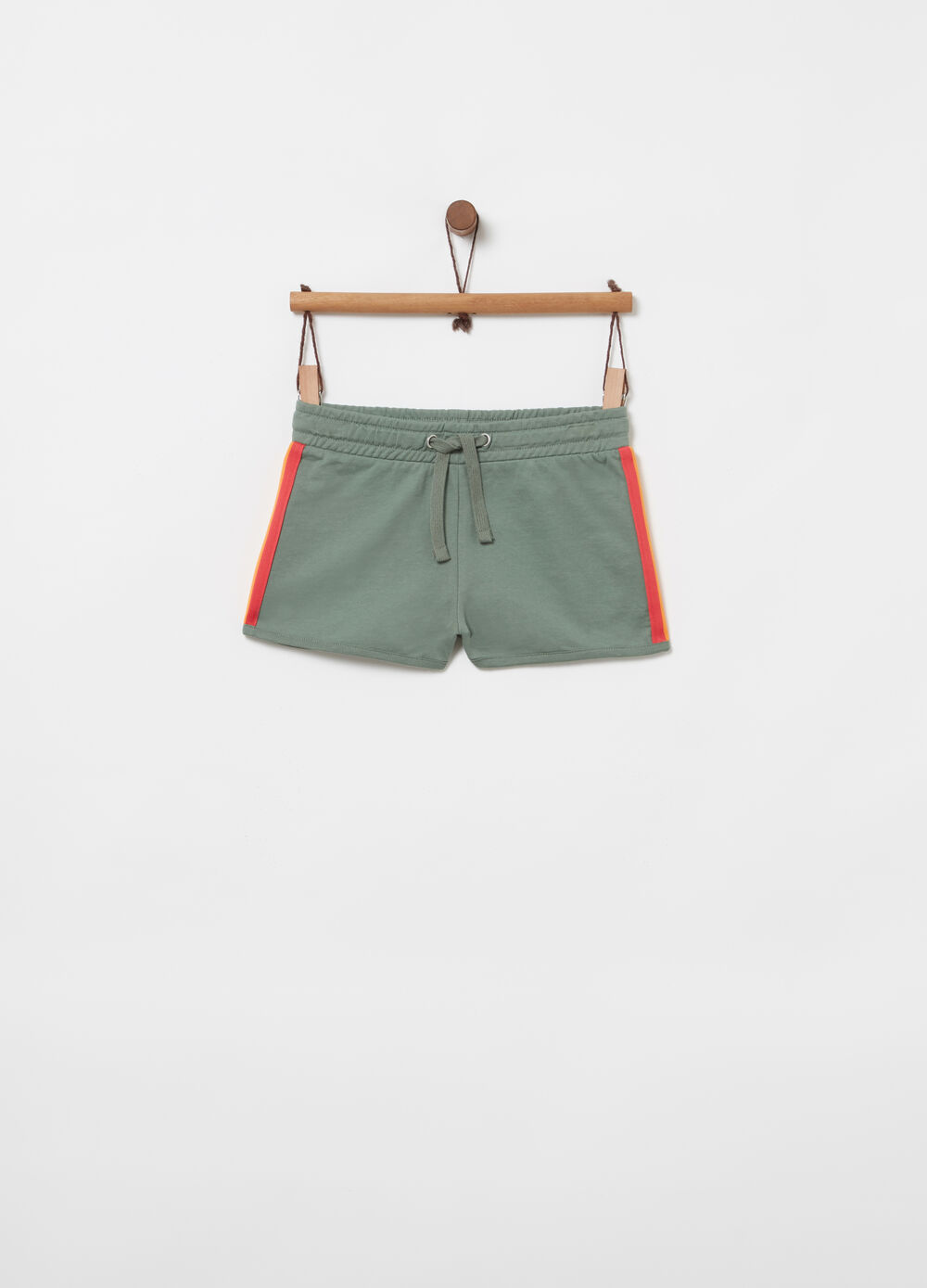 Shorts French Terry con nastro rigato