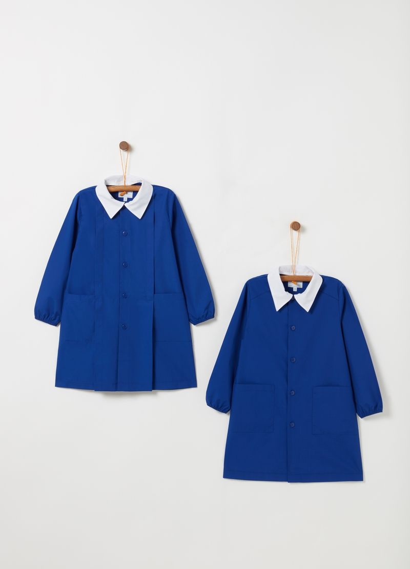Pack of two smocks with classic collar and pockets image number null
