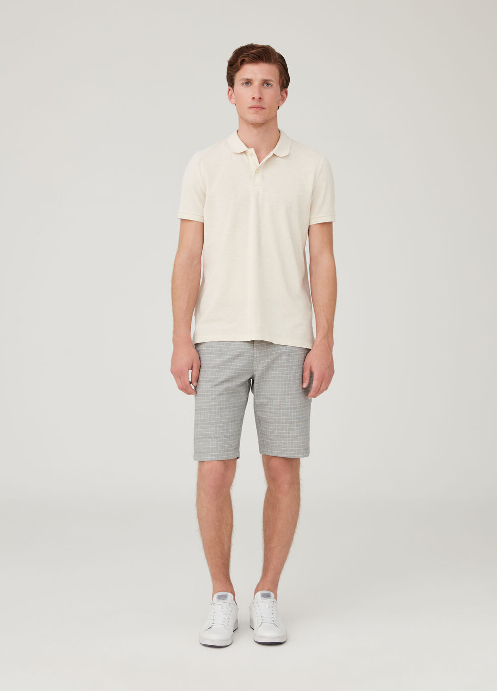 Shorts chinos regular fit de cuadros