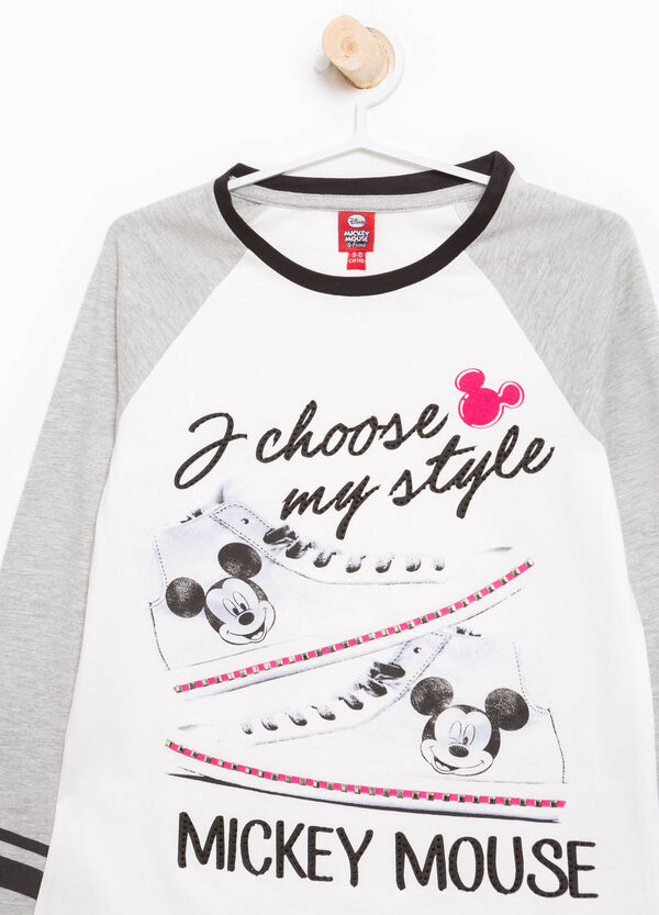 Mickey Mouse T-shirt with diamanté and stud design | OVS