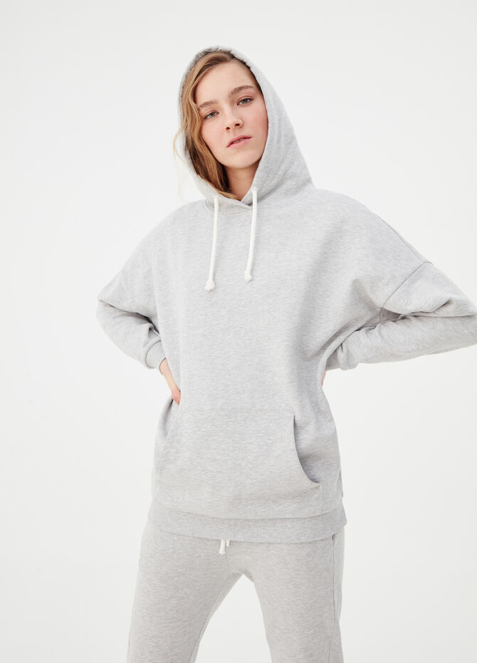 100% biocotton sweatshirt with hood