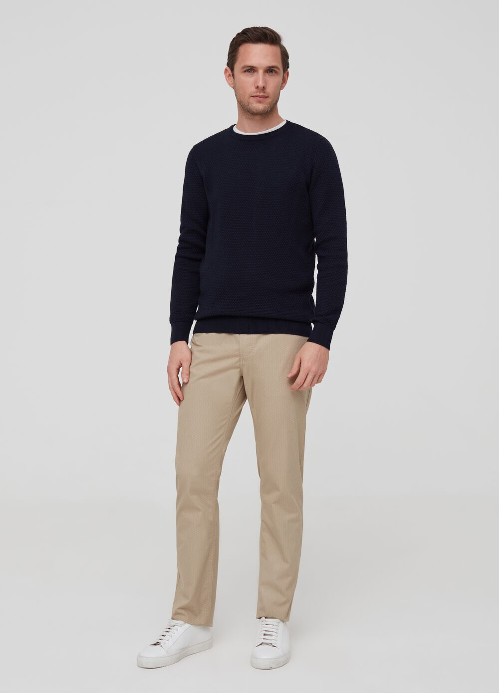 Regular-fit trousers with pattern