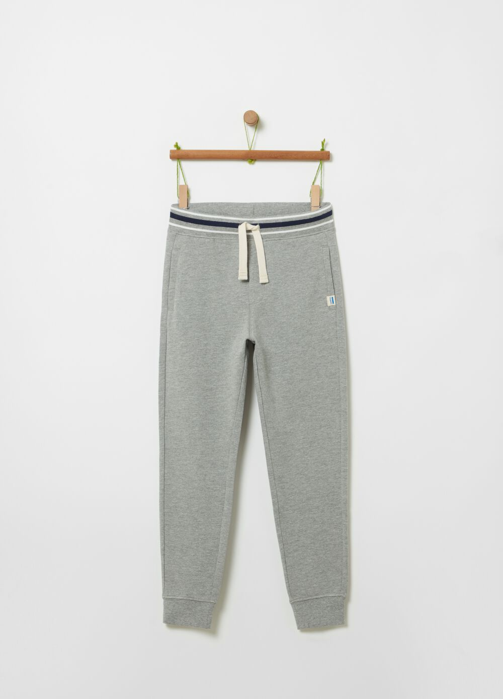 Organic cotton and viscose joggers