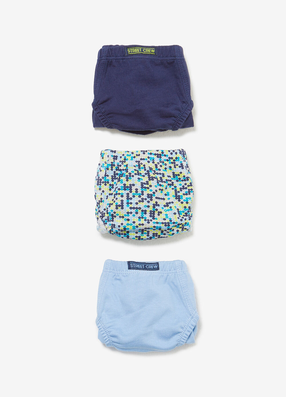 100% cotton briefs with geometric pattern