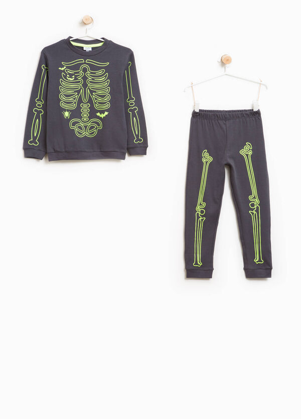 Cotton skeleton print pyjamas | OVS