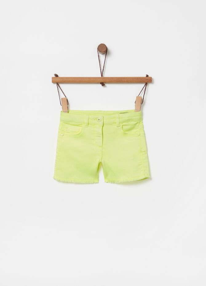 French terry shorts with five pockets
