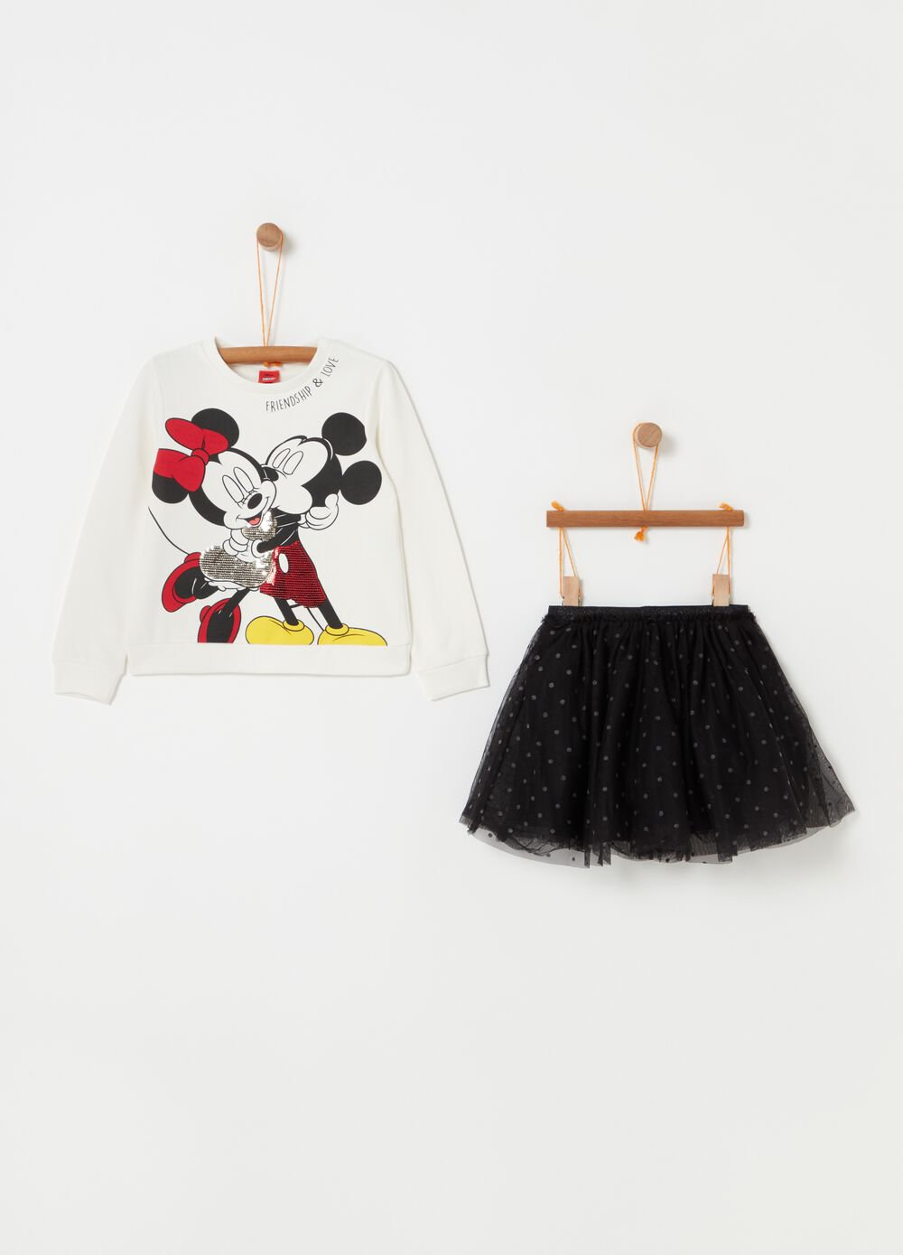 Disney Minnie Mouse jogging set with sweatshirt and skirt