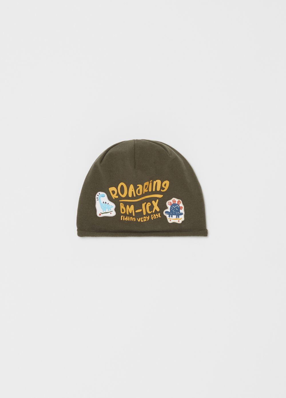 Jersey hat with print