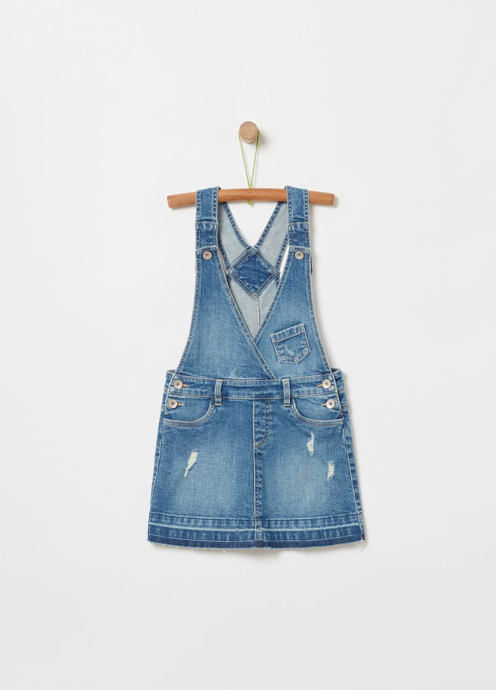 Dungarees in stretch denim