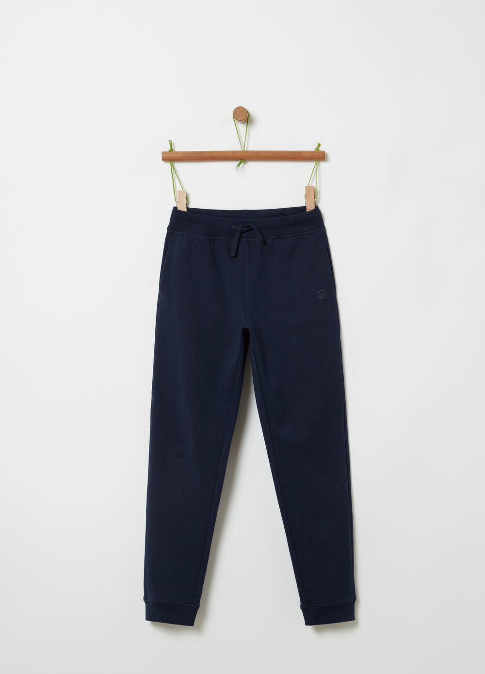 Stretch cotton joggers with pockets