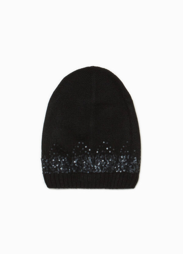 Beanie cap with sequins | OVS