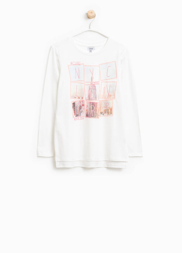 Printed cotton T-shirt | OVS