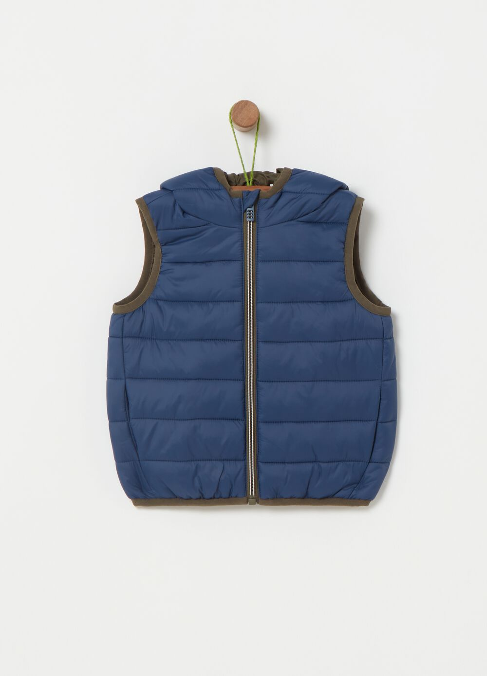Quilted and padded gilet
