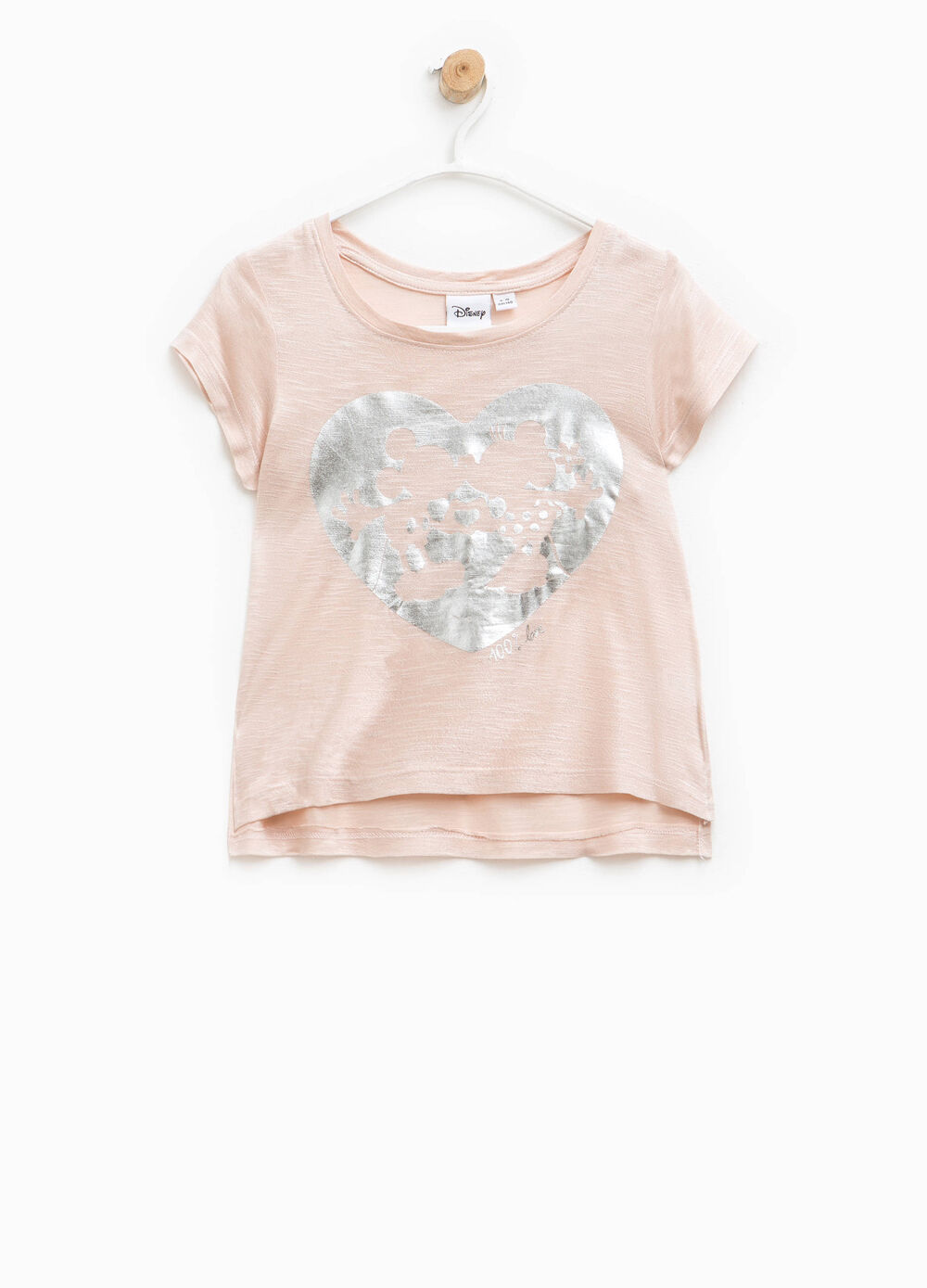T-shirt avec glitter Mickey Mouse et Minnie
