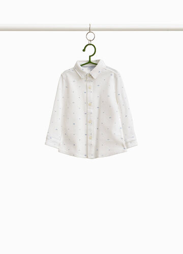 100% cotton shirt with lettering pattern