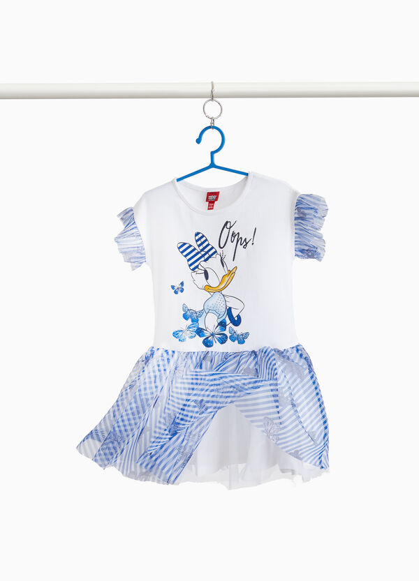 Daisy Duck stretch striped cotton dress