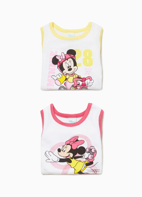 Two-pack Minnie sleeveless bodysuits in cotton
