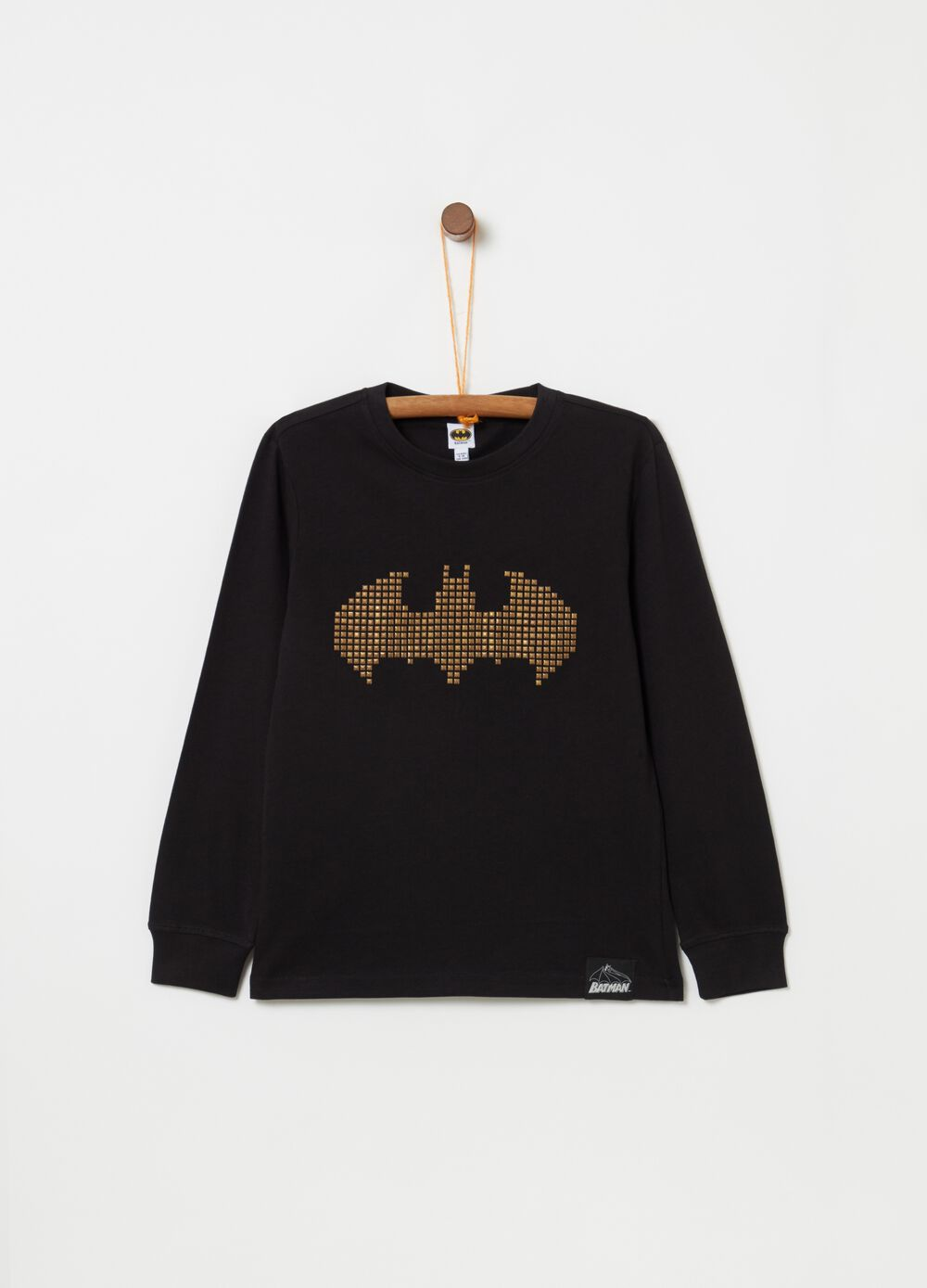 Camiseta manga larga tachuelas Batman